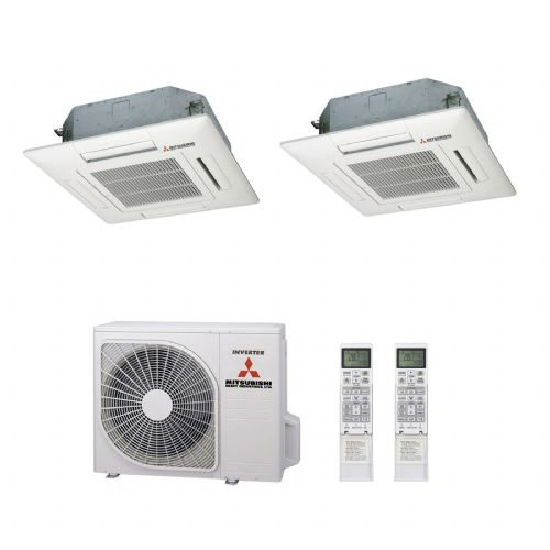 Mitsubishi Heavy Industries Air Conditioning SCM60ZM-S Multi Inverter Heat Pump 2 x FDTC35VF Cassettes A+ 240V~50Hz
